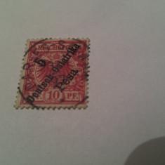 Germania/colonii/deutsch ostafrika 1896 blazoane/ 5 pe/ 10 pf, Stampilat