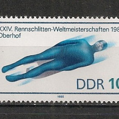 D.D.R.1985 C.M. de sanie Oberhof CD.1285 - Timbre straine, Nestampilat