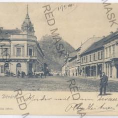 734 - Hunedoara, DEVA, Market - old postcard - used - 1904 - Carte Postala Transilvania pana la 1904, Circulata, Printata