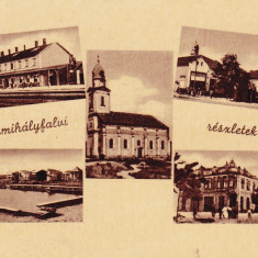 VALEA LUI MIHAI, BISERICA ROMANO-CATOLICA, GARA - Carte Postala Crisana dupa 1918, Necirculata, Fotografie