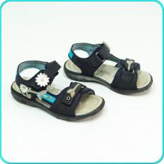 DE CALITATE → Sandale PIELE, comode, usoare, aerisite, RICOSTA → fetite | nr. 27 - Sandale copii, Culoare: Bleumarin, Fete, Piele naturala