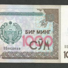 UZBEKISTAN 1000 1.000 SUM / SOM 2001 [3] VF, P-82 - bancnota asia