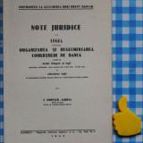 Note juridice la Legea pentru org si regl comertului de banca I Popescu Albota