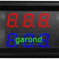 Voltmetru/ampermetru dig., cu LED-uri, 6 digiti, c.a., 0-100V/0-10A/78023