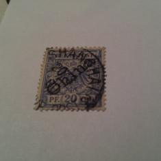 Germania/oficiul din china 1899 blazoane/ 20 pf stampilat