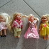 Set de cinci papusi, mici, ideale joaca fetite, papusele, papusi mici fetite - Papusa, 4-6 ani, Plastic, Fata
