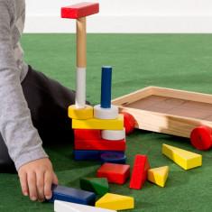 Piese de Construcţie cu Cărucior (24 piese) - Jocuri Seturi constructie