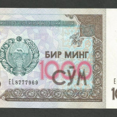 UZBEKISTAN 1000 1.000 SUM / SOM 2001 [2] XF++, P-82 - bancnota asia