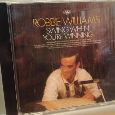ROBBIE WILLIAMS - SWING WHEN YOU'RE WINNING (2001/EMI/HOLLAND) - CD/ORIGINAL - Muzica Pop emi records