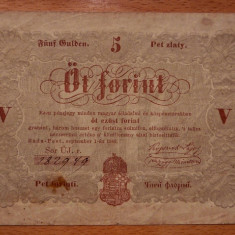 UNGARIA 5 FORINT 1848 - bancnota europa