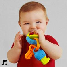 Zornăitoare Dentiţie cu Sunete pentru Bebeluși - Jucarie zornaitoare