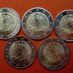 GERMANIA 2015  5 x 2 euro comemorativ ADFGJ - Drapel EU, UNC, Europa, Cupru-Nichel