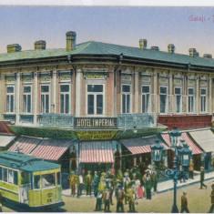 816 - GALATI, Market, Tramway - old postcard - unused, Necirculata, Printata