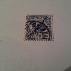 Germania/colonii/deutsch ostafrika 1896 blazoane/ 10 pe/ 20 pf, Stampilat