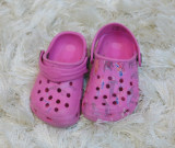 Papuci copii plaja roz crocs nr 20, Fete