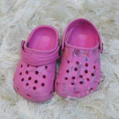 Papuci copii plaja roz crocs nr 20, Culoare: Din imagine, Fete