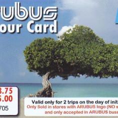Card plastic transport autobuz comun din Aruba