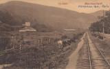 MONEASA -BAI (ARAD)  VEDERE CU CALEA FERATA, Necirculata, Printata