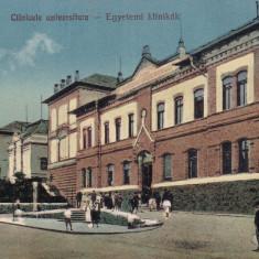 CLUJ, CLINICELE UNIVERSITARE, CIRCULATA MAR.1928 - Carte Postala Transilvania dupa 1918, Printata, Cluj Napoca
