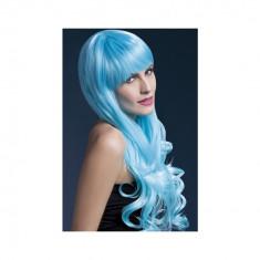 Peruca Emily albastra - Carnaval24