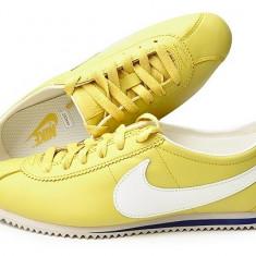 Adidasi originali NIKE CORTEZ - Adidasi dama Nike, Culoare: Mustar, Marime: 36, Piele naturala