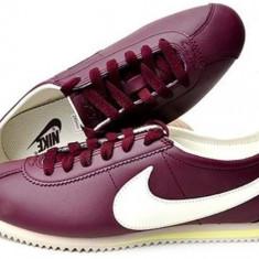 Adidasi originali Nike Cortez - Adidasi dama Nike, Culoare: Visiniu, Marime: 36, 36.5, Piele naturala