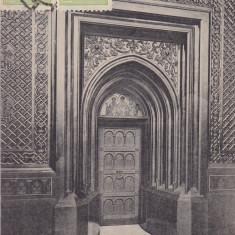 IASI , BISERICA TREI IERARHI , USA DE AUR , INTRAREA DIN TINDA IN BISERICA 1911, Circulata, Printata