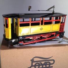 Miniatura din tabla cu cheita - Vagon tramvai - Macheta Feroviara, Locomotive