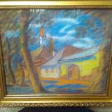 Tablou peisaj baimarean N SZTELEK - Pictor roman, Peisaje, Pastel, Realism