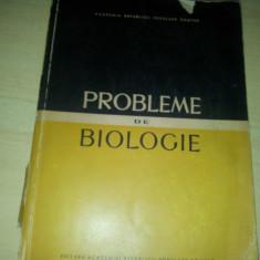 PROBLEME DE BIOLOGIE ALICE SAVULESCU....