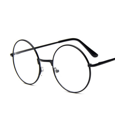 Ochelari rotunzi lentila transparenta gen unisex model retro husa inclusa foto