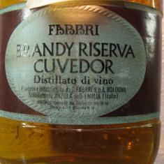 Brandy riserva cuvedor fabbri, italy, puro distillato di vino cl 75, gr 40 - Cognac