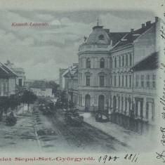 SFANTU GHEORGHE, STRADA KOSSUTH LAJOS, CIRCULATA IANUARIE 1900 - Carte Postala Transilvania pana la 1904, Printata