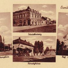 VALEA LUI MIHAI, PRIMARIA, BISERICA REFORMATA, BISERICA ROMANO-CATOLICA - Carte Postala Crisana dupa 1918, Necirculata, Fotografie