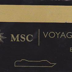 Card plastic intrare cabina croaziera MSC Opera, Voyagers Club Black