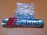 Emblema s-line audi de grila metalica