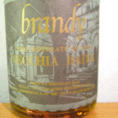 Brandy vecchia riserva badia, puro distillato di vino, cl.75 gr 40 italy - Cognac