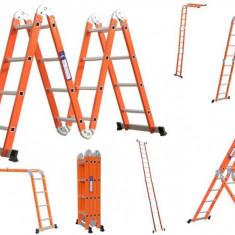Scara portocalie 450 cm 16 trepte, din otel