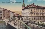 CLUJ , PODUL FERENCZ JOSEF DE PESTE SOMES , CIRCULATA APR.1915, Cluj Napoca, Printata