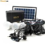Cumpara ieftin Panou solar fotovoltaic 3 becuri incarcare telefon KIT iluminare GDLITE GD8006