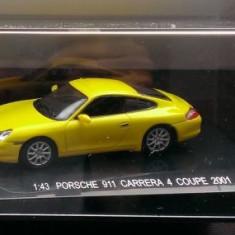 Macheta 1/43 - Porsche 911 Carrera 4 Coupe 2001 galben- KDW 711 Collection - Macheta auto