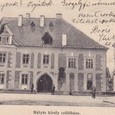 CLUJ, CASA LUI MATEI CORVIN, CLASICA, CIRCULATA JUL.1903 - Carte Postala Transilvania pana la 1904, Printata, Cluj Napoca