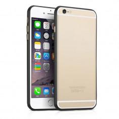 """Bumper aluminiu negru Iphone 6 Plus 5.5"""" + folie ecran"""