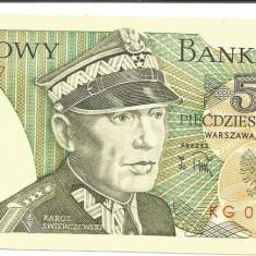 @bancnota- POLONIA 50 ZLOTI ZLOTYCH 1986 UNC