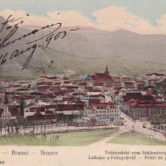BRASOV, PRIVIT DE PE STAJA, CLASICA, CIRCULAT AUG. 1903 - Carte Postala Transilvania pana la 1904, Printata