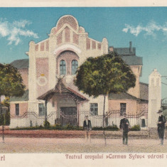 CAREII MARI, TEATRUL ORASULUI ''CARMEN - SYLVA'' - Carte Postala Maramures dupa 1918, Necirculata, Printata