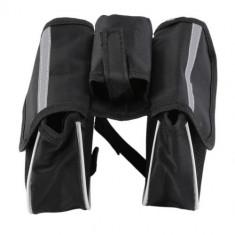 Port bagaj spatiu depozitare dublu suport telefon borseta pentru bicicleta - Accesoriu Bicicleta, Borsete bicicleta