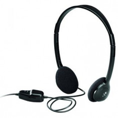 Casti Logitech Dialog-220, Casti On Ear, Cu fir, Mufa 3, 5mm