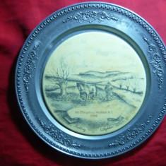 Farfurie Ornamentala cu imagine desen pe centru- Arat Primavara - marca Rusto