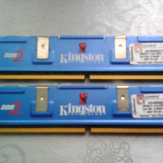 KIT MEMORIE RAM DDR 2 1 GB 2X512 MB KINGSTON HYPER X 533MHZ PERFECT FUNCTIONAL - Memorie RAM laptop Kingston, Dual channel